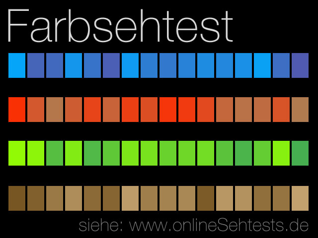farben sortieren farbsehtest online. Black Bedroom Furniture Sets. Home Design Ideas